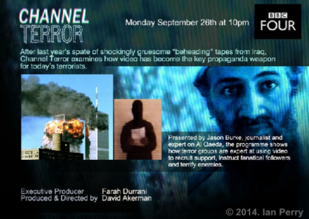 "Image of ""CHANNEL TERROR"" filmed by Ian Perry"