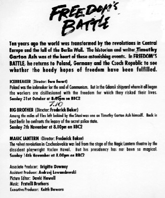 "Image of text about ""Freedom's Battle"" filmed by Ian Perry"